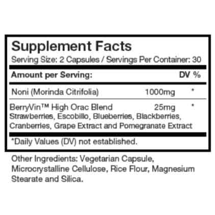 Engerize Supplement Facts